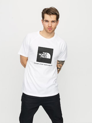 The North Face Raglan Redbox T-shirt (white)