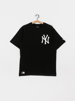 New Era Mlb Big Logo Oversized New York Yankees T-shirt (blk)