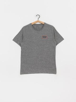 Brixton Palmer Prem T-shirt (heather grey/orange)