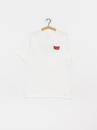 Brixton Stith Stnd T-shirt (white/maroon)