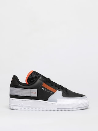 Nike Air Force 1 Type Shoes (black/hyper crimson wolf grey white)