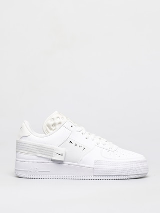 Nike Air Force 1 Type Shoes (white/white white)