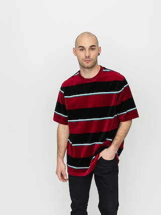Stussy Velour Stripe T-shirt (wine)