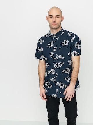 Brixton Charter Print Wvn Shirt (navy/off white)