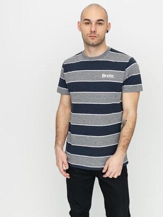 Brixton Hilt Print T-shirt (heather grey/washed navy)