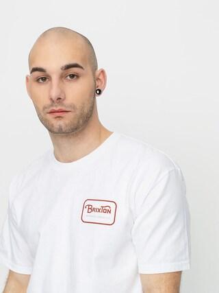 Brixton Grade Stnd T-shirt (white/burnt orange)