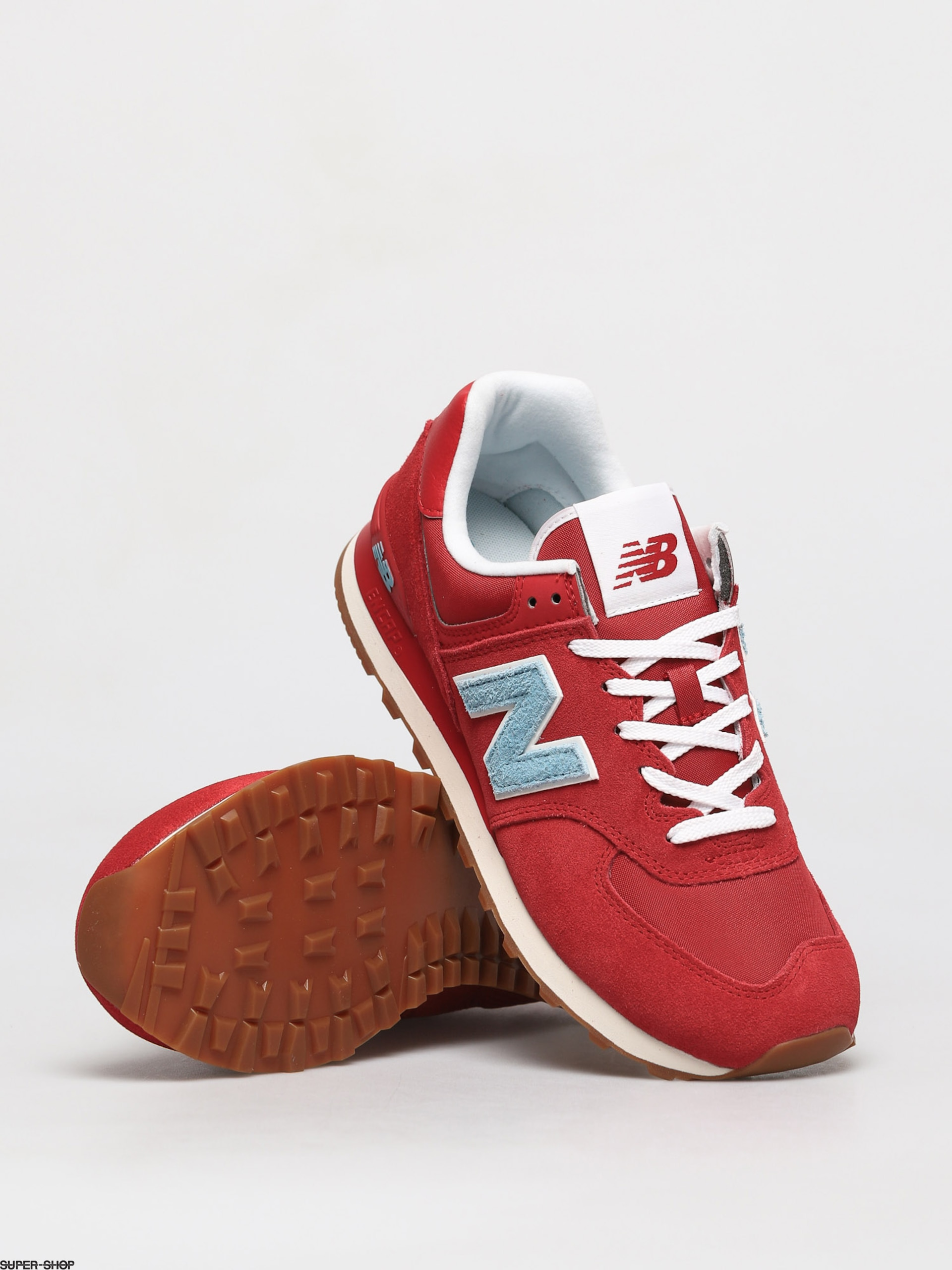 New Balance 574 Shoes (red/blue)