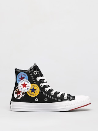 Converse Chuck Taylor All Star Multi Logo Hi Chucks (black)