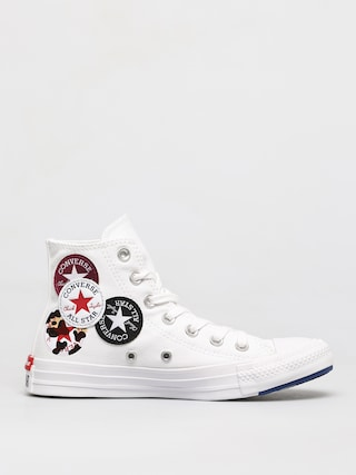 Converse Chuck Taylor All Star Multi Logo Hi Chucks (optical white)