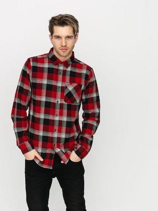 Volcom Caden Plaid Shirt (deep red)
