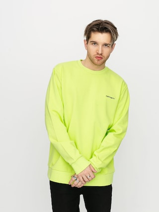 Carhartt WIP Script Embroidery Sweatshirt (lime/black)