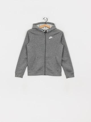 Nike Club JR ZHD Hoodie (carbon heather/smoke grey/white)