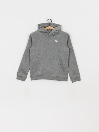 Nike Club JR HD Hoodie (carbon heather/white)