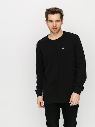 Brixton B Shield Ft Crew Sweatshirt (black)