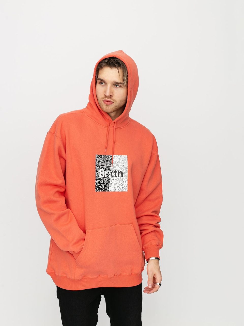 Men Enjoi Panda Tie Dye Zip Hoodie