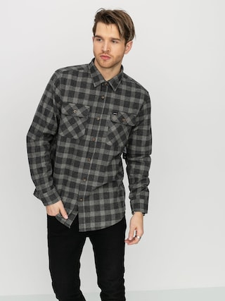 Brixton Bowery Flannel Shirt (black/heather grey)