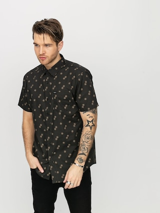Brixton Charter Print Wvn Shirt (washed black/copper)