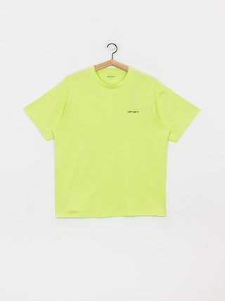 Carhartt WIP Script Embroidery T-shirt (lime/black)