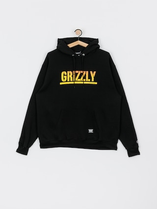 Grizzly Griptape X Champion Stamp Fadeaway HD Hoodie (black)