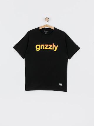 Grizzly Griptape X Champion Lowercase Fadeaway T-shirt (black)