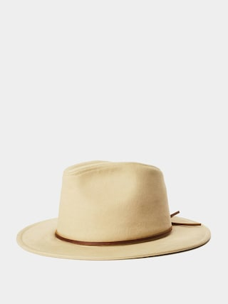 Brixton Wesley Cotton Fedora Hat (light khaki)
