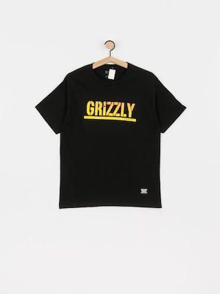 Grizzly Griptape X Champion Stamp Fadeaway T-shirt (black)