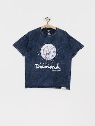 Diamond Supply Co. Splash Sign Mineral Wash T-shirt (navy)
