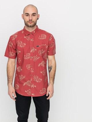 Brixton Charter Print Wvn Shirt (lava red)