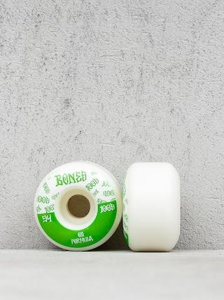 Bones 100#13 Wide Formula V4 Wheels (white/green)