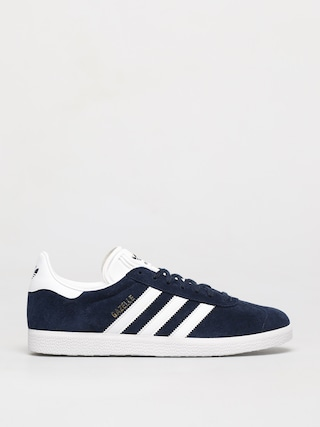 adidas Originals Gazelle Shoes (collegiate navy/white/gold met)