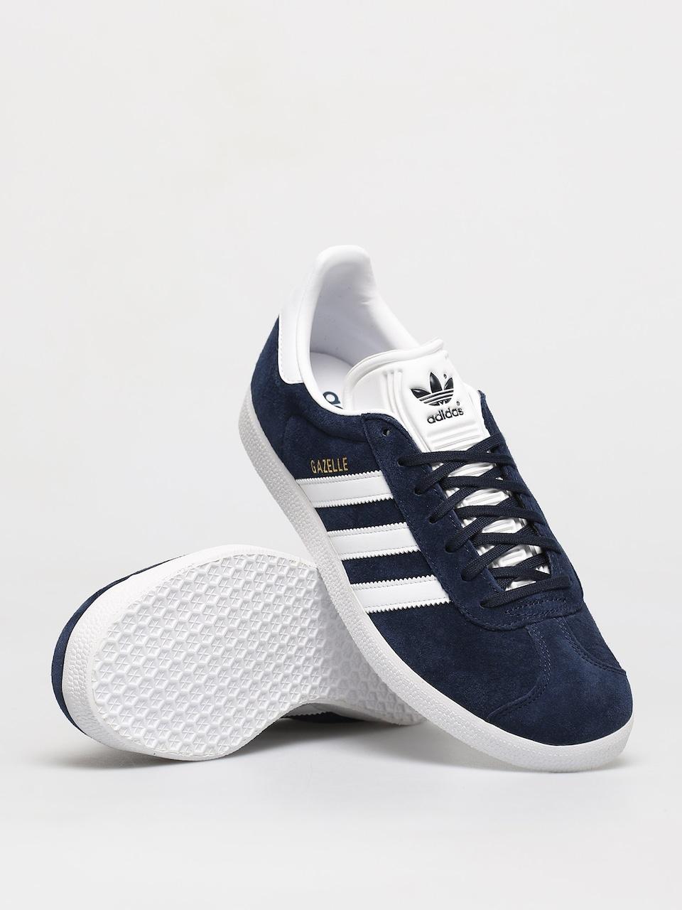 adidas Originals Gazelle Shoes (collegiate navy/white/gold met)
