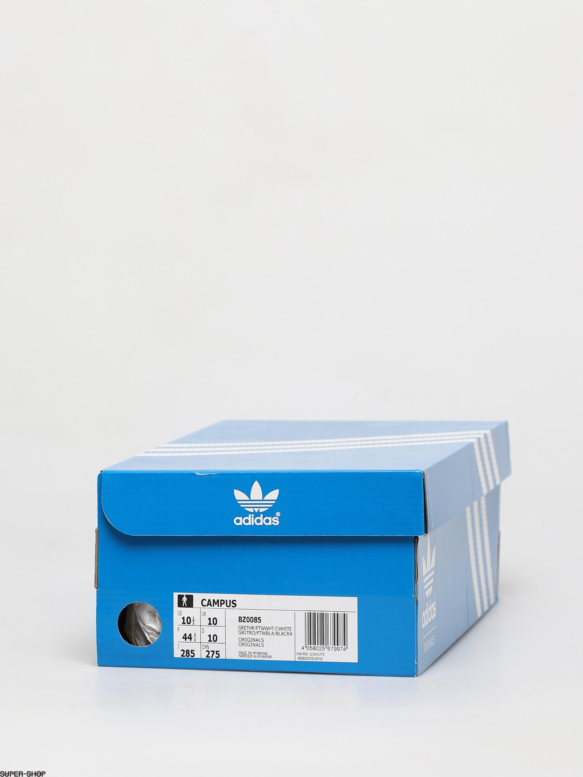 niebla torre Probar  adidas Originals Campus Shoes (grey three f17/ftwr white/chalk white)