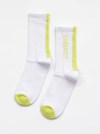 Carhartt WIP Turner Socks (white/lime)