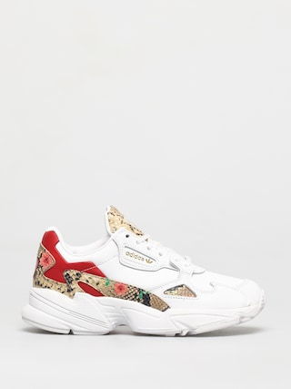 adidas Originals Falcon Shoes Wmn (white/scarlet/gold met)