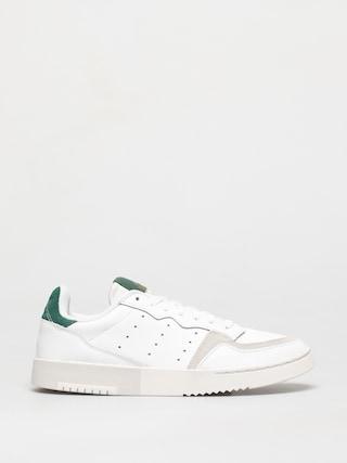 adidas Originals Supercourt Shoes (white/white/collegiate green)