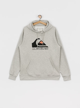 Quiksilver Comp Logo Screen HD Hoodie (athletic heather)