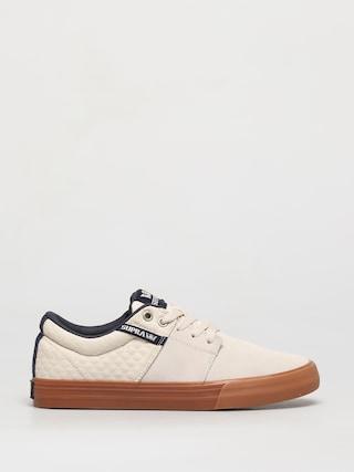 Supra Stacks Vulc II Shoes (bone/navy gum)