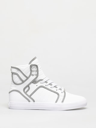 Supra Skytop Shoes (white/reflect white)
