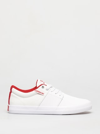 Supra Stacks Vulc II Shoes (white/red white)