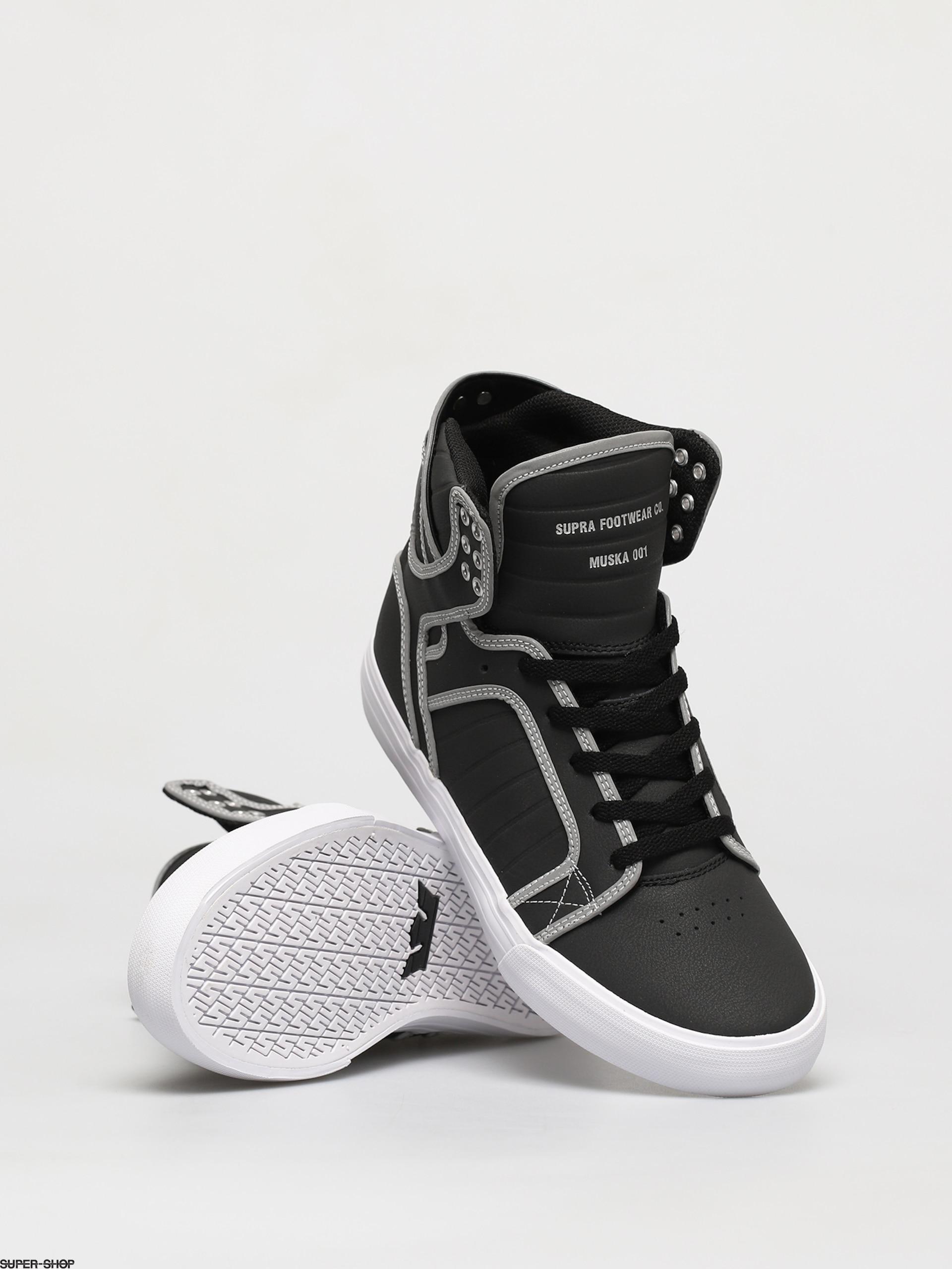 Supra Skytop Shoes (black/reflect white)