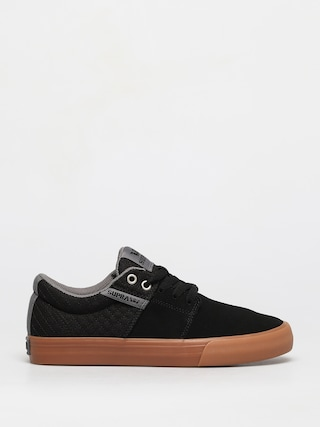 Supra Stacks Vulc II Shoes (black/grey gum)
