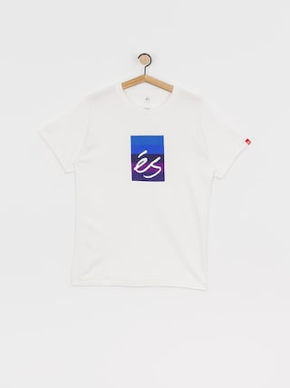 eS Block Gradient T-shirt (white/purple)