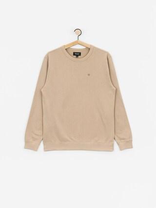Brixton B Shield Ft Crew Sweatshirt (light khaki)