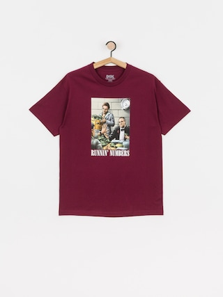 DGK Runnin Numbers T-shirt (burgundy)
