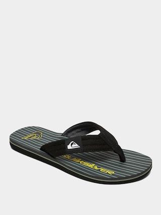 Quiksilver Molokai Layback Flip-flops (black/grey/green)