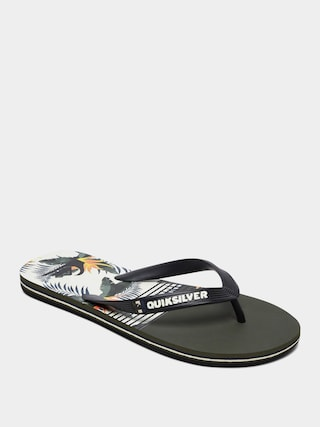 Quiksilver Molokai Jungle Swell Flip-flops (black/white/black)