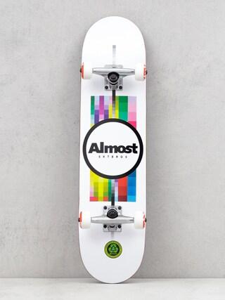 Almost Pixel Flip Skateboard (white)