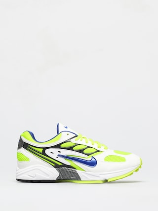Nike Air Ghost Racer Shoes (white/hyper blue neon yellow black)