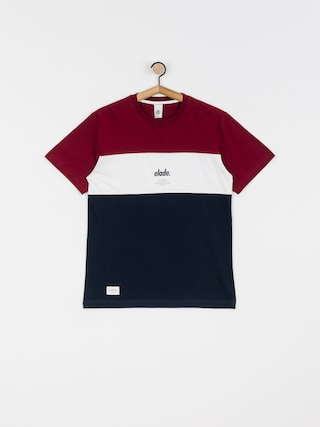 Elade Colour Block T-shirt (maroon/white/navy)