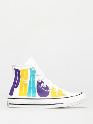 Converse Chuck Taylor All Star Hi Chucks (white/court purple/amarillo)